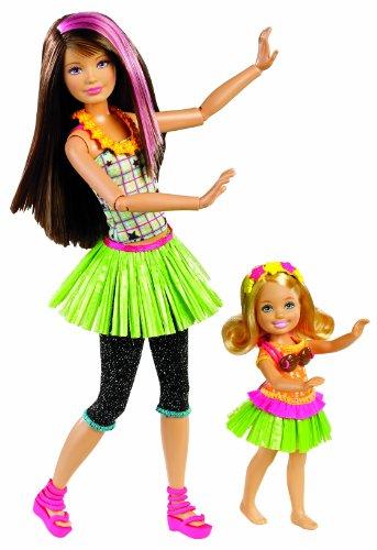 バービー バービー人形 チェルシー スキッパー ステイシー X3215 Barbie Sisters Hula Dance Skipper and Chelsea Doll 2-Packバービー バービー人形 チェルシー スキッパー ステイシー X3215