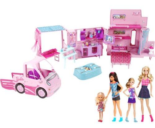 バービー バービー人形 チェルシー スキッパー ステイシー 【送料無料】2013 Barbie Sisters' Deluxe Camper Bundle Play Set with 4 Dolls and Fab Cab RVバービー バービー人形 チェルシー スキッパー ステイシー