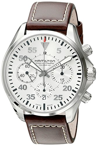 ハミルトン 腕時計 メンズ H64666555 Hamilton Men's H64666555 Khaki Aviation Stainless Steel Automatic Watch with Brown Leather Bandハミルトン 腕時計 メンズ H64666555, 快適バリューSHOP a5f8f730