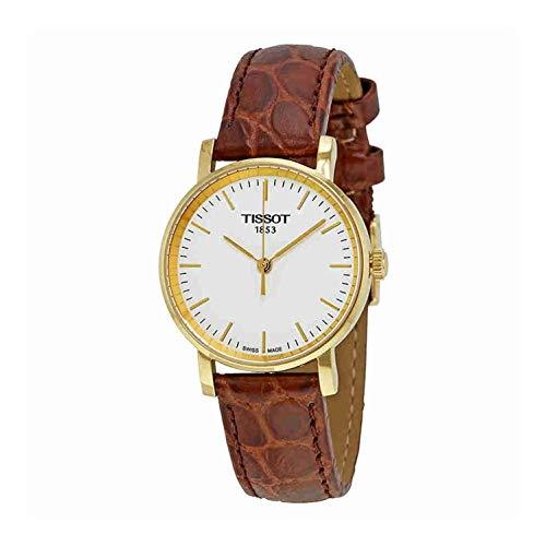 ティソ 腕時計 レディース 【送料無料】Tissot Ladies T1092103603100 White Dial Leather Strap Watchティソ 腕時計 レディース