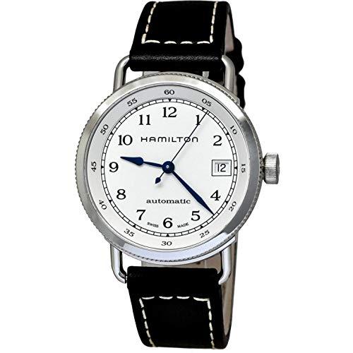 ハミルトン 腕時計 レディース H78215553 【送料無料】Hamilton Khaki Silver Dial Leather Strap Automatic Ladies Watch H78215553ハミルトン 腕時計 レディース H78215553