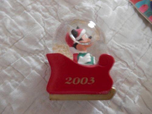 スノーグローブ 雪 置物 インテリア 海外モデル JC Penneys 2003 Mickey Mouse Water Globe, Mickey in Sled Water Globeスノーグローブ 雪 置物 インテリア 海外モデル