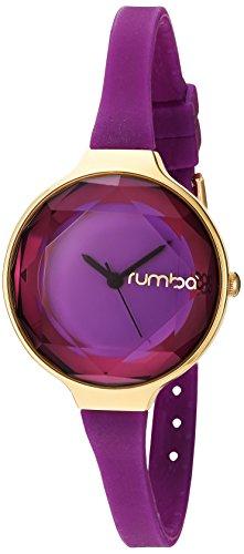 ルンバタイム 腕時計 メンズ 22728 【送料無料】RumbaTime Women's Orchard Gem Mini 30mm Alloy Case Japanese Quartz Watch with Silicone Strap, Purple, 8 (Model: 22728)ルンバタイム 腕時計 メンズ 22728