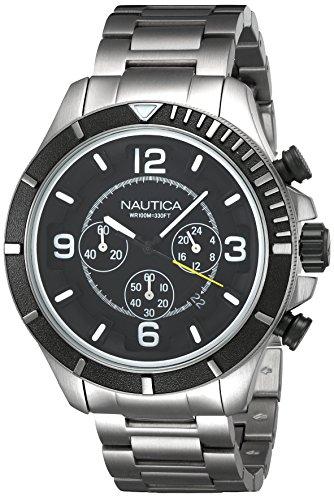 ノーティカ 腕時計 メンズ NAI21506G 【送料無料】Nautica NST 450 Chronograph Black Dial Men's Watch NAI21506Gノーティカ 腕時計 メンズ NAI21506G