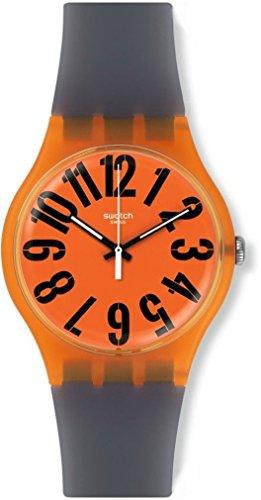 スウォッチ 腕時計 メンズ SUOO103 【送料無料】Swatch SUOO103 Men's Archi-Mix Larancio Orange Dial Grey Silicone Strap Watchスウォッチ 腕時計 メンズ SUOO103