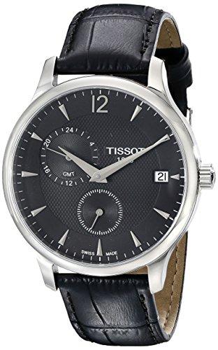 ティソ 腕時計 メンズ TIST0636391605700 【送料無料】Tissot Men's TIST0636391605700 Tradition Analog Display Swiss Quartz Black Watchティソ 腕時計 メンズ TIST0636391605700