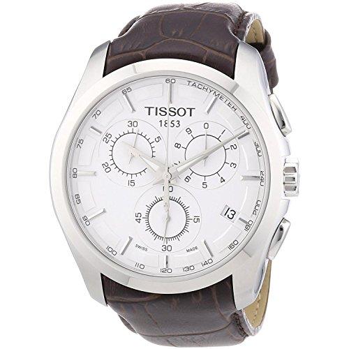 腕時計 ティソ メンズ T035.617.16.031.00 【送料無料】T035.617.16.031.00Couturier Silver Chronograph Mens Watch腕時計 ティソ メンズ T035.617.16.031.00