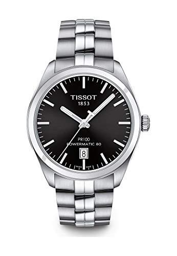 ティソ 腕時計 メンズ 【送料無料】Tissot PR 100 Automatic Black Dial Mens Watch T101.407.11.051.00ティソ 腕時計 メンズ