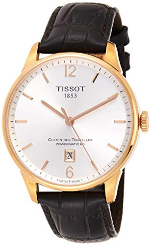 ティソ 腕時計 メンズ T0994073603700 【送料無料】Tissot Men's T0994073603700 Chemin Des Tourelles Powermatic 82 Analog Display Swiss Automatic Brown Watchティソ 腕時計 メンズ T0994073603700