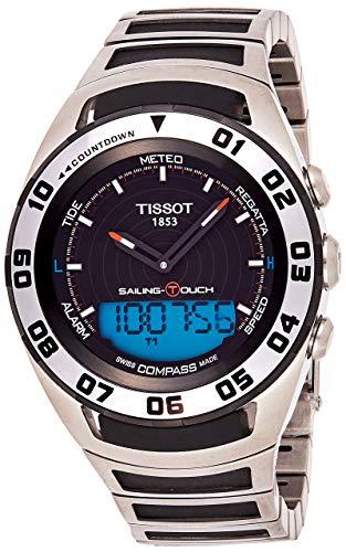 """ティソ 腕時計 メンズ T056.420.21.051.00 【送料無料】Tissot Men""""s """"Sailing Touch"""" Black Dial Stainless Steel/Rubber Multifunction Watch T056.420.21.051.00ティソ 腕時計 メンズ T056.420.21.051.00"""