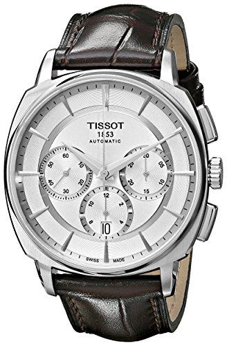 ティソ 腕時計 メンズ T0595271603100 【送料無料】Tissot Men's 'T Lord' Silver Dial Brown Leather Strap Chronograph Automatic Watch T059.527.16.031.00ティソ 腕時計 メンズ T0595271603100