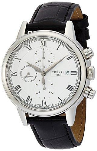 ティソ 腕時計 メンズ T0854271601300 【送料無料】Tissot Carson White Dial SS Leather Automatic Men's Watch T0854271601300ティソ 腕時計 メンズ T0854271601300