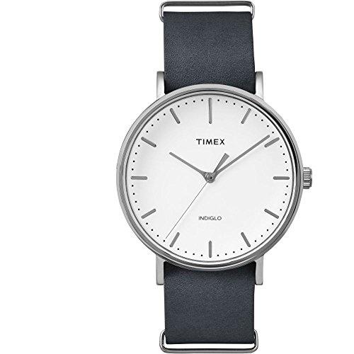 タイメックス 腕時計 メンズ TW2P91300 【送料無料】Timex TW2P91300CM Weekender Fairfield Men's Analog Display Quartz Watch, Black Leather Band, Round 41mm Caseタイメックス 腕時計 メンズ TW2P91300