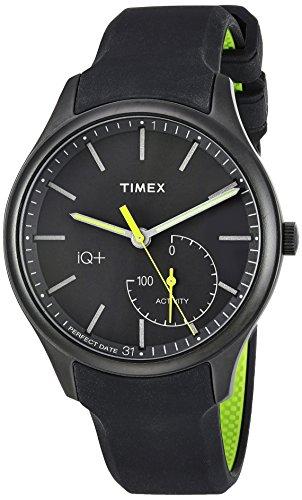 タイメックス 腕時計 メンズ TW2P95100 Timex Men's TW2P95100 IQ+ Move Activity Tracker Gray/Black/Lime Silicone Strap Smart Watchタイメックス 腕時計 メンズ TW2P95100