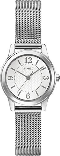 タイメックス 腕時計 レディース T2P457GP 【送料無料】Timex Women's Classic T2P457 Silver Stainless-Steel Analog Quartz Fashion Watchタイメックス 腕時計 レディース T2P457GP