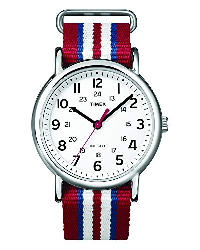 タイメックス 腕時計 レディース T2N746 Timex Analog Unisex Watch - Weekender Slip-Thru | Red White & Blue Strapタイメックス 腕時計 レディース T2N746