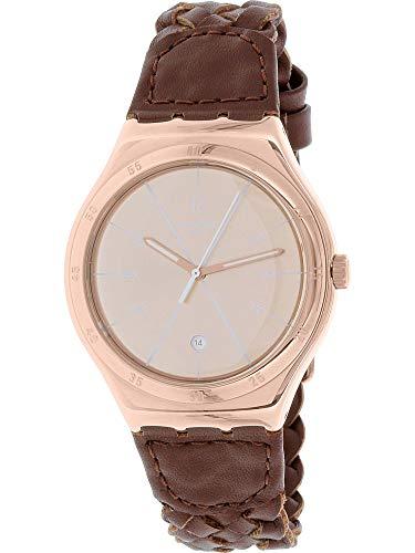 スウォッチ 腕時計 メンズ YWG402 【送料無料】Swatch Men's Irony YWG402 Brown Leather Swiss Quartz Fashion Watchスウォッチ 腕時計 メンズ YWG402