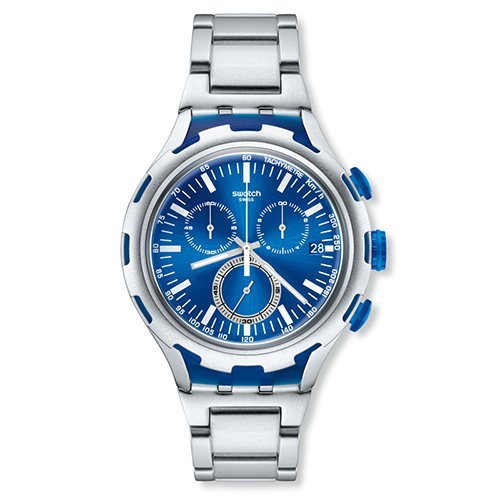 スウォッチ 腕時計 メンズ YYS4001AG Swatch Endless Energy Chronograph Blue Dial Aluminium Mens Watch YYS4001AGスウォッチ 腕時計 メンズ YYS4001AG