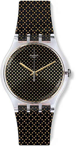 スウォッチ 腕時計 レディース 夏の腕時計特集 SUOK119 【送料無料】Swatch suok119 Gridlight Black Plastic Strap Watchスウォッチ 腕時計 レディース 夏の腕時計特集 SUOK119