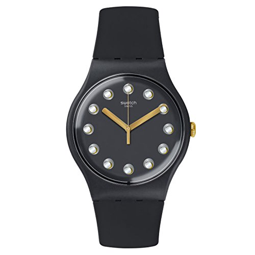 スウォッチ 腕時計 レディース 夏の腕時計特集 SUOM104 【送料無料】Swatch Women's New Gent SUOM104 Black Silicone Swiss Quartz Fashion Watchスウォッチ 腕時計 レディース 夏の腕時計特集 SUOM104