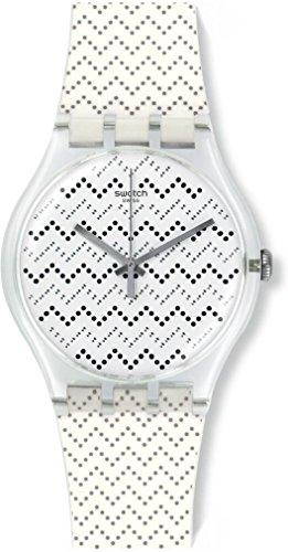 スウォッチ 腕時計 レディース SUOK118 Swatch suok118 Wavey Dots White Silicone Strap Watchスウォッチ 腕時計 レディース SUOK118