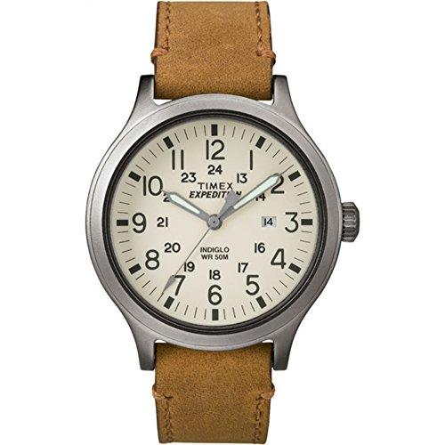 タイメックス 腕時計 メンズ TW4B06500 【送料無料】Timex Men's TW4B06500 Expedition Scout 43 Tan/Natural Leather Strap Watchタイメックス 腕時計 メンズ TW4B06500