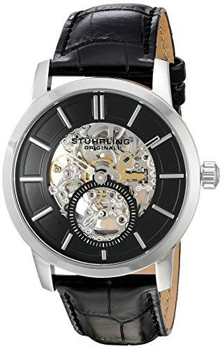 ストゥーリングオリジナル 腕時計 メンズ 924.02 【送料無料】Stuhrling Original Men's 'Legacy' Mechanical Hand Wind Stainless Steel and Black Leather Dress Watch (Model: 924.02)ストゥーリングオリジナル 腕時計 メンズ 924.02