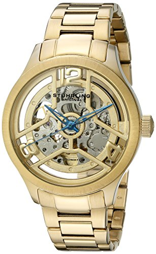 ストゥーリングオリジナル 腕時計 メンズ 784.03 【送料無料】Stuhrling Original Men's 784.03 Symphony Automatic Self Wind 23K Gold tone Link Bracelet Skeleton Watchストゥーリングオリジナル 腕時計 メンズ 784.03