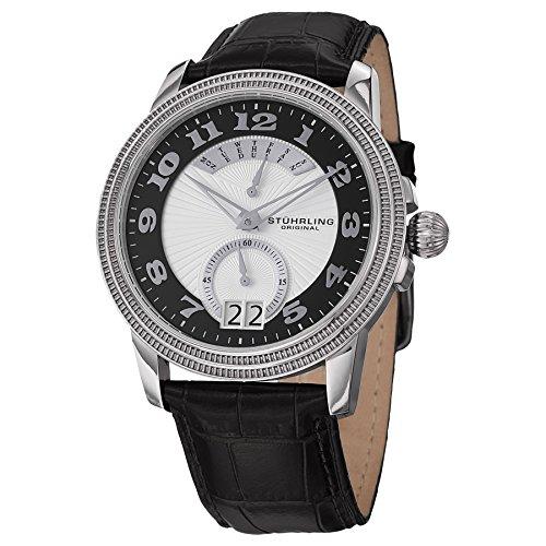 腕時計 ストゥーリングオリジナル メンズ 788.02 【送料無料】Stuhrling Original Men's 788.02 Symphony Analog Display Swiss Quartz Black Watch腕時計 ストゥーリングオリジナル メンズ 788.02
