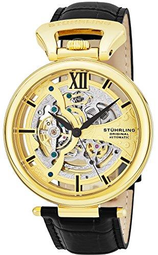 腕時計 ストゥーリングオリジナル メンズ 627.02 【送料無料】Stuhrling Original Men's 'Legacy' Automatic Stainless Steel and Black Leather Dress Watch (Model: 627.02)腕時計 ストゥーリングオリジナル メンズ 627.02