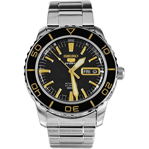 セイコー 腕時計 メンズ SNZH57 【送料無料】Seiko 5 Sports Automatic Black Dial Stainless Steel Mens Watch SNZH57J1 by Seiko Watchesセイコー 腕時計 メンズ SNZH57