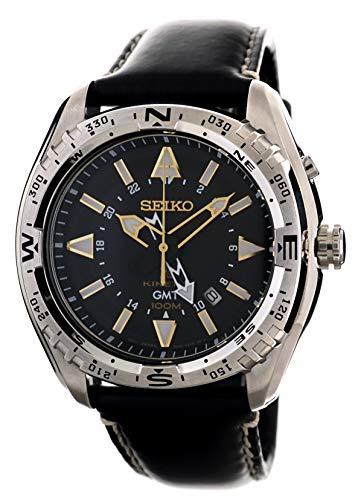 セイコー 腕時計 メンズ SUN053 【送料無料】Seiko Mens Kinetic GMT Sports 100M Watch with Black Calf Leather SUN053P1セイコー 腕時計 メンズ SUN053