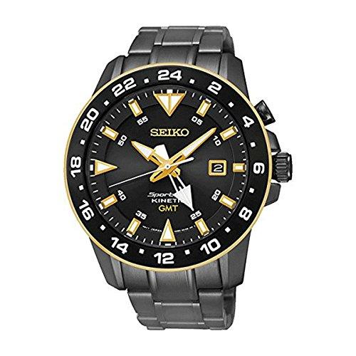 セイコー 腕時計 メンズ SUN026P1 Seiko SUN026P1 Men's Kinetic Gmt,Stainless Steel Case & Bracelet,100m WR SUN026セイコー 腕時計 メンズ SUN026P1