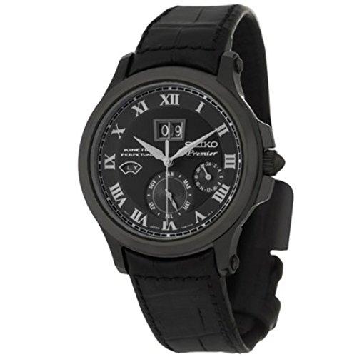 セイコー 腕時計 メンズ SNP045P1 【送料無料】Seiko Premier Kinetic Perpetual Black Leather Mens Watch SNP045セイコー 腕時計 メンズ SNP045P1