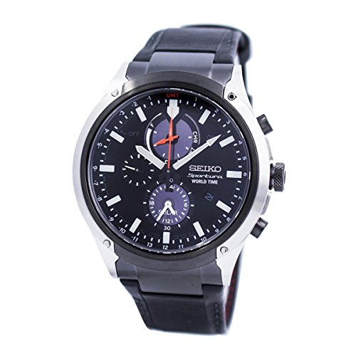 セイコー 腕時計 メンズ Seiko Mens Watch Sportura Solar World Time Chronograph SSC483P1セイコー 腕時計 メンズ