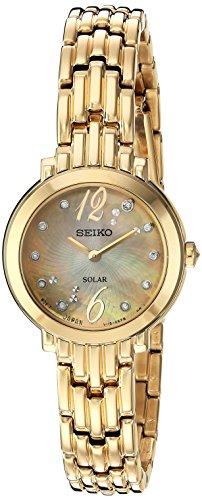 腕時計 セイコー レディース SUP356 【送料無料】Seiko Women's Tressia Japanese-Quartz Watch with Stainless-Steel Strap, Gold, 10 (Model: SUP356)腕時計 セイコー レディース SUP356