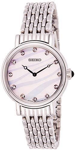 セイコー 腕時計 レディース Damen Seiko Quarz SFQ807P1 Wristwatch for women With Swarovski crystalsセイコー 腕時計 レディース Damen