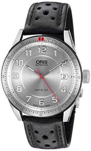 オリス 腕時計 メンズ 73376714461LS 【送料無料】Oris Men's 'Artix GT' Swiss Stainless Steel and Leather Automatic Watch, Color:Black (Model: 73376714461LS)オリス 腕時計 メンズ 73376714461LS