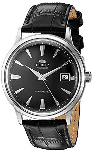オリエント 腕時計 メンズ FAC00004B0 【送料無料】Orient Men's 2nd Gen. Bambino Ver. 1 Stainless Steel Japanese-Automatic Watch with Leather Strap, Black, 21 (Model: FAC00004B0)オリエント 腕時計 メンズ FAC00004B0