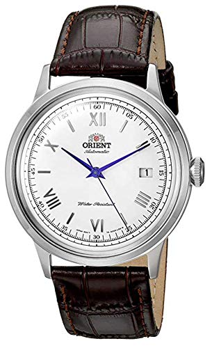 オリエント 腕時計 メンズ FAC00009W0 【送料無料】Orient Men's 2nd Gen. Bambino Ver. 2 Stainless Steel Japanese-Automatic Watch with Leather Strap, Brown, 21 (Model: FAC00009W0)オリエント 腕時計 メンズ FAC00009W0