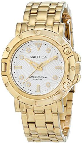 ノーティカ 腕時計 レディース NAD17529L 【送料無料】Nautica Women's NST 800 Quartz Watch with Stainless-Steel Strap, Silver, 18 (Model: NAD17529L)ノーティカ 腕時計 レディース NAD17529L