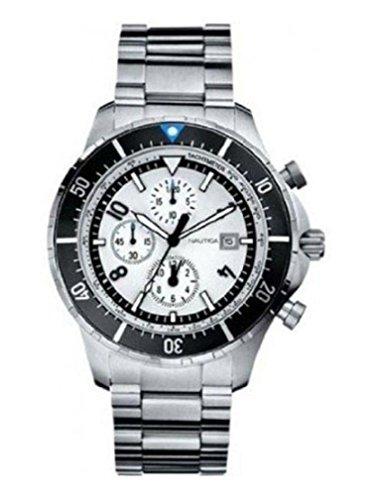 ノーティカ 腕時計 メンズ N34501G Nautica Chronograph Stainless Steel Bracelet White Dial Men's Watch #N34501Gノーティカ 腕時計 メンズ N34501G