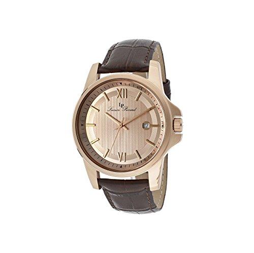 ルシアンピカール 腕時計 メンズ 10048-RG-09 Lucien Piccard Men's 10048-RG-09 Breithorn Rose Tone Textured Dial Brown Leather Watchルシアンピカール 腕時計 メンズ 10048-RG-09