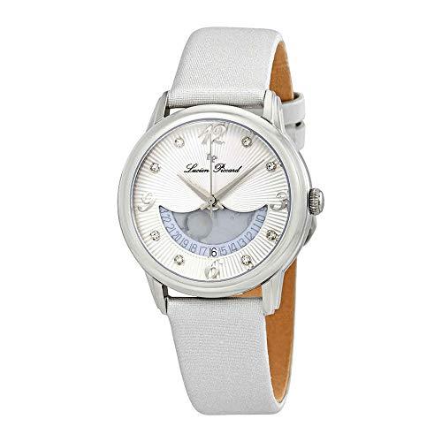 ルシアンピカール 腕時計 レディース LP-40034-02-SSS Lucien Piccard Women's Bellaluna Stainless Steel Swiss-Quartz Watch with Leather Calfskin Strap, Silver, 18 (Model: LP-40034-02-SSS)ルシアンピカール 腕時計 レディース LP-40034-02-SSS