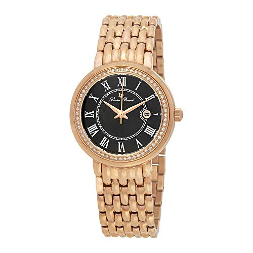 ルシアンピカール 腕時計 レディース LP-16540-RG-11 【送料無料】Lucien Piccard Fantasia Black Dial Ladies Watch 16540-RG-11ルシアンピカール 腕時計 レディース LP-16540-RG-11
