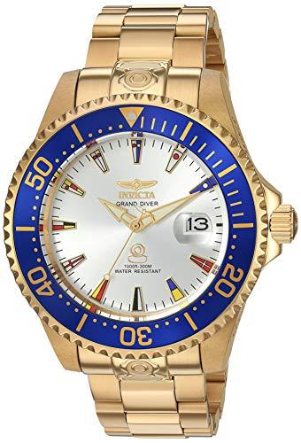インヴィクタ インビクタ プロダイバー 腕時計 メンズ 21325 Invicta Men's Pro Diver Automatic-self-Wind Watch with Gold-Tone-Stainless-Steel Strap, 21.5 (Model: 21325)インヴィクタ インビクタ プロダイバー 腕時計 メンズ 21325