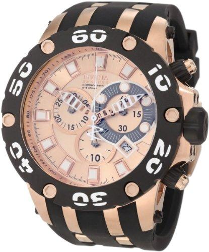 腕時計 インヴィクタ インビクタ サブアクア メンズ 0919 【送料無料】Invicta Men's 0919 Subaqua Reserve Chronograph Rose Dial Black Polyurethane Watch腕時計 インヴィクタ インビクタ サブアクア メンズ 0919