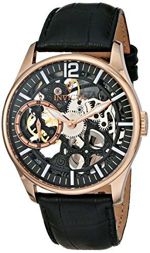 インヴィクタ インビクタ 腕時計 メンズ 12408 Invicta Men's 12408 Vintage Rose Gold-Tone Stainless Steel Mechanical Skeleton Watch with Leather Bandインヴィクタ インビクタ 腕時計 メンズ 12408