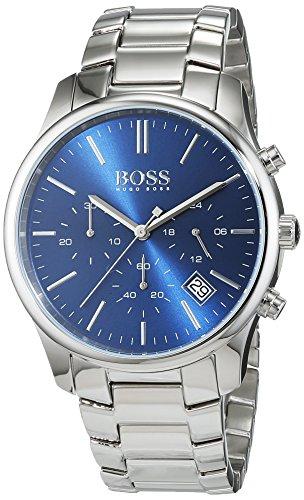 ヒューゴボス 高級腕時計 メンズ 1513434 【送料無料】Hugo Boss Men's Commander Quartz Chronograph Stainless Steel Watch 1513434ヒューゴボス 高級腕時計 メンズ 1513434