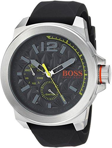 ヒューゴボス 高級腕時計 メンズ 1513347 HUGO BOSS Orange Men's Quartz Stainless Steel and Leather Casual Watch, Color:Grey (Model: 1513347)ヒューゴボス 高級腕時計 メンズ 1513347